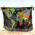 Krakatoa visit World Time Zone Map beach sarong